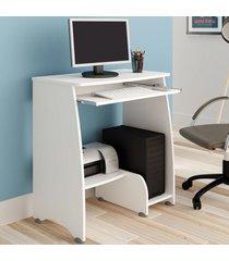 mesa para computador pixel 2 nichos branco - artely