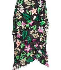 rok met bloemenprint coby  zwart