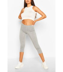 deep high waist cropped legging, grey