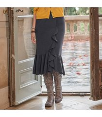 elegant ruffle skirt - petites