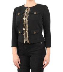 elisabetta franchi moves womens jacket zwart