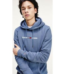 tommy hilfiger men's organic cotton tommy logo hoodie faded ink - xxl