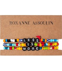 roxanne assoulin less is more camp bracelets - black