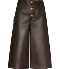 bottega veneta wide leg shorts - brown
