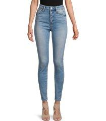 true religion women's halle high-rise skinny jeans - blue - size 26 (2-4)