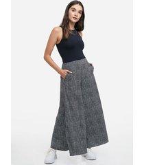 pantalón tipo culotte con aberturas, estampado