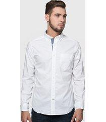 camisa nautica blanco - calce regular