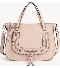 women's destin satchel vegan studded whipstich in color: blush bag vegan leather from sole society
