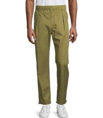 champion men's straight-hem pants - fig green - size xl