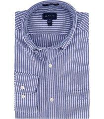 gant overhemd regular fit blauw wit strepen