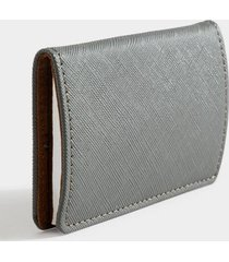 katy covered metal card case - gray