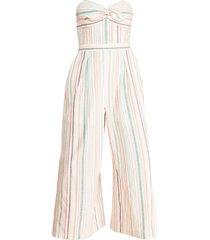 parker women's bohemia strapless jumpsuit - multi stripe - size 4