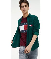camisa cord verde tommy jeans