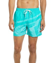chubbies 5.5-inch swim trunks, size large in mint at nordstrom