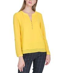 blusa io  ml amarillo - calce holgado