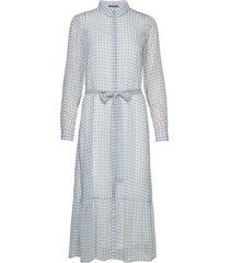 checks kora dress maxiklänning festklänning blå bruuns bazaar