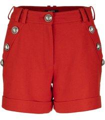 balmain short cotton shorts with buttons