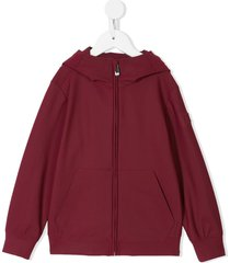 il gufo classic hoodie bomber - red