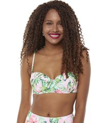 top ancho tropical rosa mujer corona