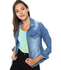 campera celeste byh jeans oriana