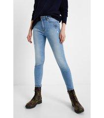 skinny jean trousers - blue - 34