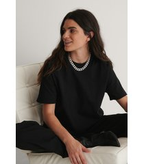 na-kd basic oversize t-shirt - black