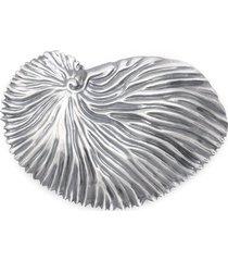 atu body couture x la vie en doré shell brooch - silver