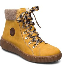z6633-68 shoes boots ankle boots ankle boot - flat gul rieker