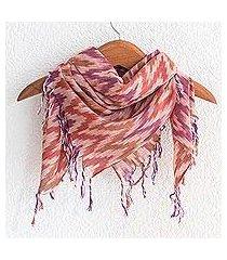cotton scarf, 'jaspe harmony' (guatemala)