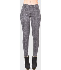 jeans tentation print negro - calce ajustado