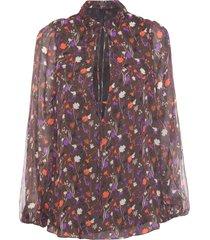 blusa feminina ampla tril - marrom