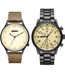kenneth cole unlisted classic watch set, 45mm