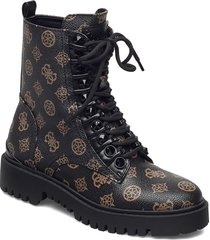 oxana/stivaletto /leat shoes boots ankle boots ankle boot - flat brun guess
