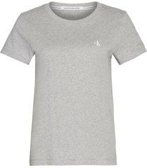 camiseta manga corta ck embroidery slim gris calvin klein