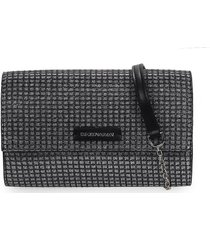 black silver wallet with chain