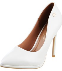 zapato blanco lady stork eva