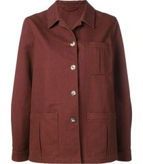 holland & holland pointed collar jacket - brown