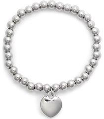 women's knotty heart charm bracelet