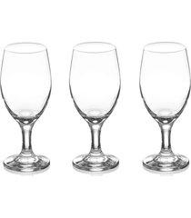 conjunto de taças imperial para vinho em vidro 280ml com 3 peças