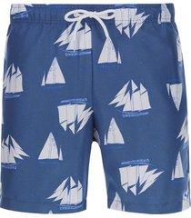 pantalóneta de baño barcos color azul, talla m