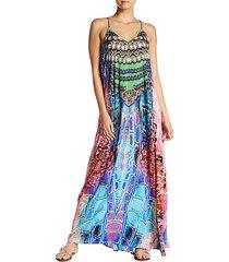 mixed croco-print beach dress