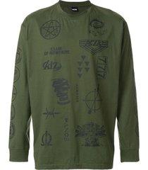 ktz blusa de moletom oversized - verde