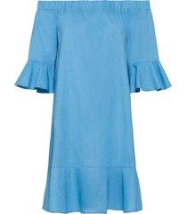 abito in misto lino con spalle scoperte (viola) - bodyflirt