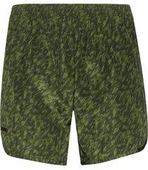 true tribe wild steve camo print swim shorts - green