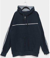 jaqueta moletom athletic jacket listras plus size masculina