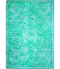 victoria leopard head scarf - one kelly green