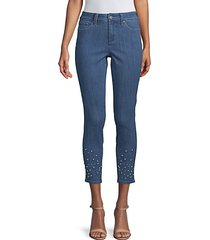 ami embellished ankle jeans