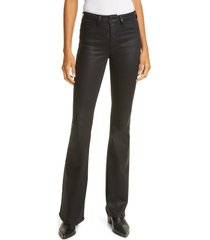 women's l'agence bell coated flare jeans, size 23 - black