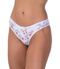 calcinha em cotton vip lingerie com babadinho branco