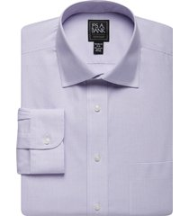 jos. a. bank men's traveler collection tailored fit spread collar check dress shirt - big & tall clearance, purple, 16 1/2x36